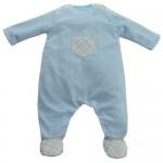 Emile et Rose Baby Blue Babygrow