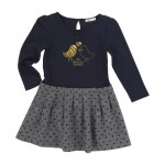 Billieblush Navy Heart Print Dress Age 12