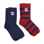 Timberland Red and Navy Socks