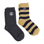 Timberland Navy, Grey and Yellow Socks