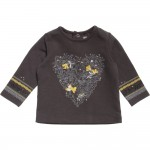 Catimini Grey and Yellow Long Sleeve T-shirt Age 2