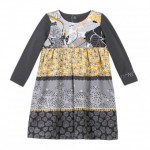 Catimini Grey and Yellow Tunic Dress Age 2